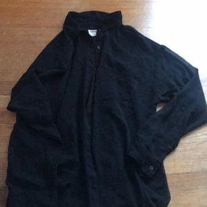 Garage sheer black blouse
